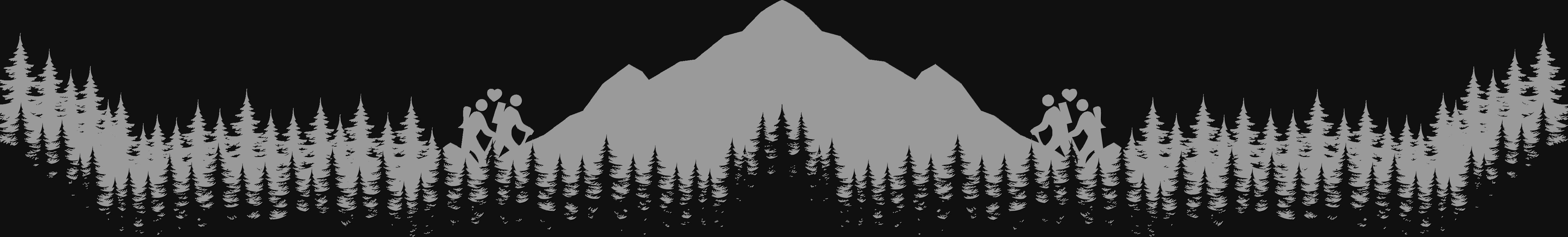 Footer von hafo.co.at, eine graue Berglandschaft